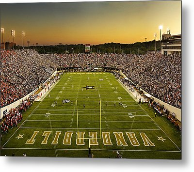 Vanderbilt Endzone View Of Vanderbilt Stadium Metal Print by Vanderbilt University