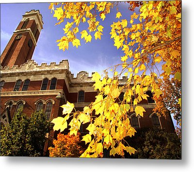 Vanderbilt Kirkland Hall In The Fall Metal Print by Vanderbilt University