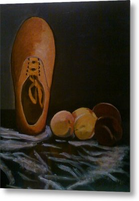 Vans And Peaches Metal Print by Haley Lightfoot