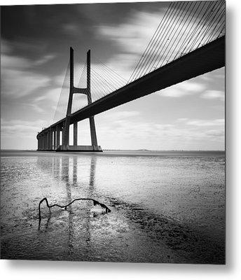 Vasco Da Gama Bridge I Metal Print by Nina Papiorek