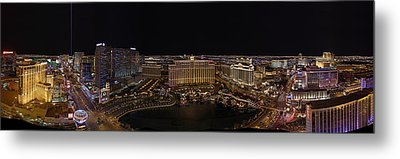 Vegas Strip From Eiffel Tower Metal Print by Metro DC Photography
