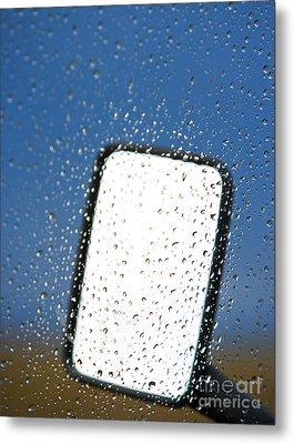 Vehicle Side Mirror Metal Print by David Buffington