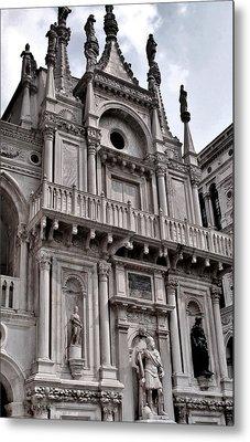 Venetian Architecture Iv Metal Print by Ellen Heaverlo