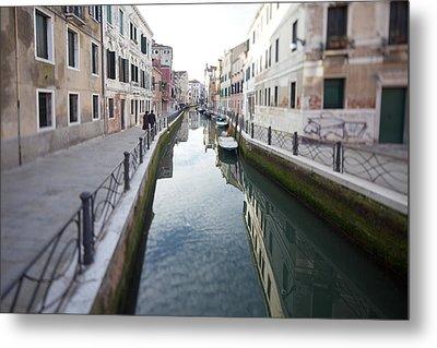 Venetian Canal - Selective Focus  Metal Print by Tilman Winkler