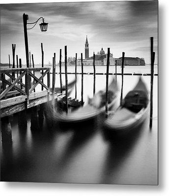 Venice Gondolas Metal Print by Nina Papiorek