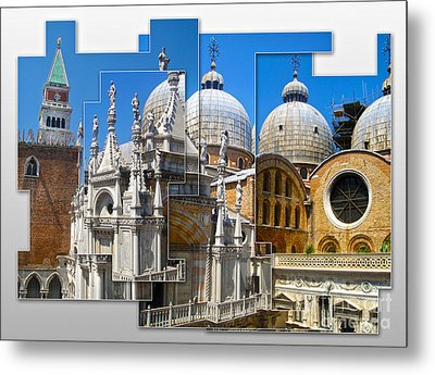 Venice Italy - Cathedral Basilica Of Saint Mark Metal Print by Gregory Dyer