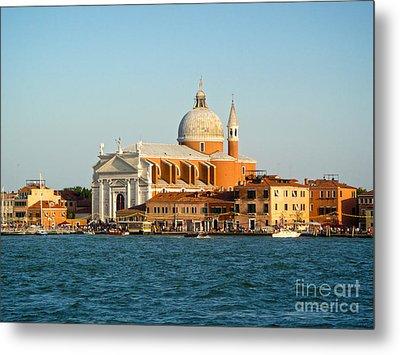 Venice Italy - San Giorgio Maggiore Island Metal Print by Gregory Dyer