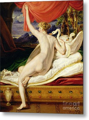 Venus Rising From Her Couch Metal Print by James Ward