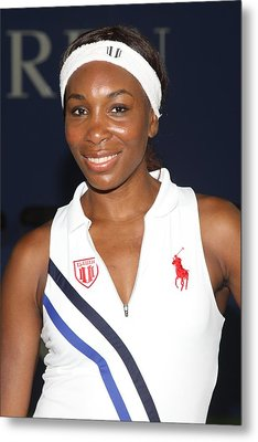 Venus Williams At A Public Appearance Metal Print by Everett