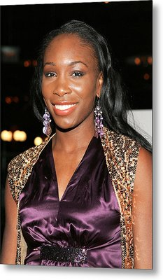 Venus Williams At Arrivals For Hitch Metal Print by Everett