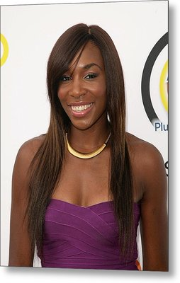 Venus Williams In Attendance For New Metal Print by Everett