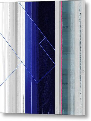 Vertical Rain Metal Print by Naxart Studio
