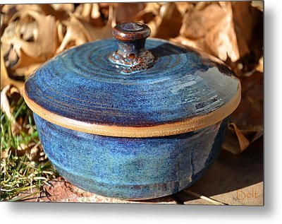 Vessel With Lid No.2 Metal Print by Christine Belt