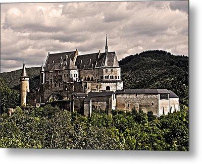 Vianden Castle - Luxembourg Metal Print by Juergen Weiss