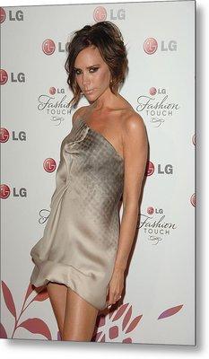 Victoria Beckham Wearing A Victoria Metal Print by Everett