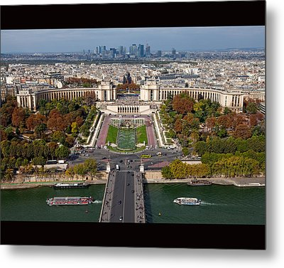 View From The Second  Floor Of Eiffel Tower Metal Print by Anna A. Krømcke