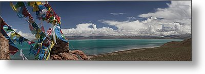 View Of Freshwater Lake Manasarovar Metal Print by Phil Borges
