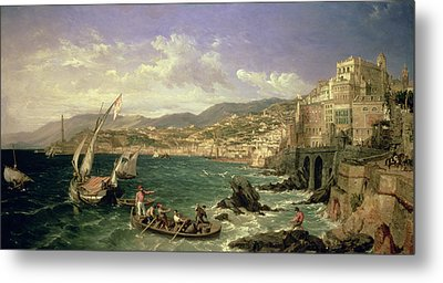 View Of Genoa Metal Print by William Parrott