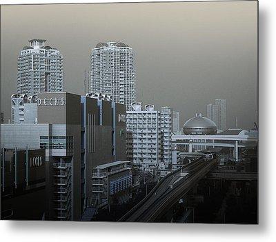 View Of Modern Tokyo Metal Print by Naxart Studio