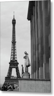 View Of Paris France With Eiffel Tower Metal Print by Win Initiative