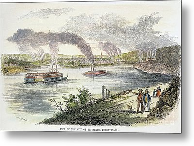 View Of Pittsburgh, 1853 Metal Print by Granger