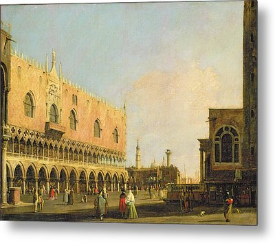 View Of The Piazzetta San Marco Looking South Metal Print by Canaletto