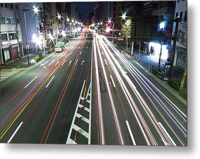 View Of Traffic At Nihonbashi, Tokyo, Japan Metal Print by Billy Jackson Photography