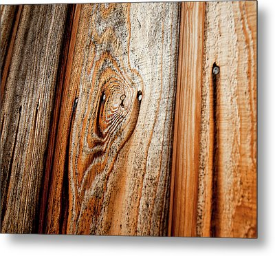 View Of Wooden  Ply Metal Print by Veronique Regimbal photographie