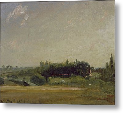 View Towards The Rectory - East Bergholt Metal Print by John Constable