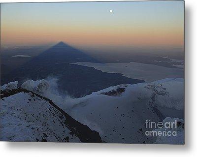 Villarrica, Summit View With Shadow Metal Print by Martin Rietze