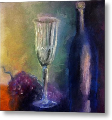 Vino Metal Print by Michelle Calkins