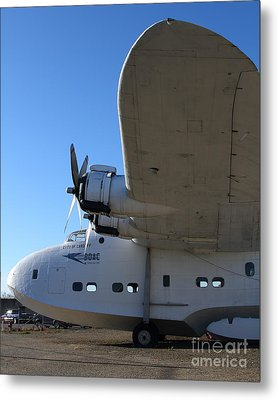 Vintage Boac British Overseas Airways Corporation Speedbird Flying Boat . 7d11290 Metal Print by Wingsdomain Art and Photography