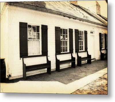 Vintage Building 2 Metal Print by Emily Kelley