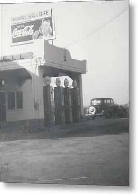 Vintage Coca Cola And Gas Metal Print by Alan Espasandin
