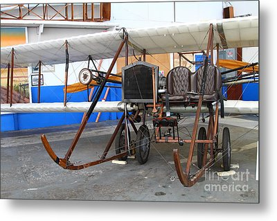 Vintage Wright Brothers Type Airplane . 7d11147 Metal Print by Wingsdomain Art and Photography
