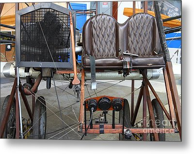 Vintage Wright Brothers Type Airplane . 7d11148 Metal Print by Wingsdomain Art and Photography