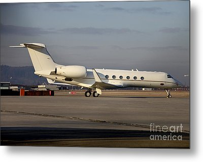 Vip Jet C-37a Of Supreme Headquarters Metal Print by Timm Ziegenthaler