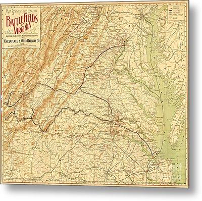 Virginia Battlefields Metal Print by Roberto Prusso
