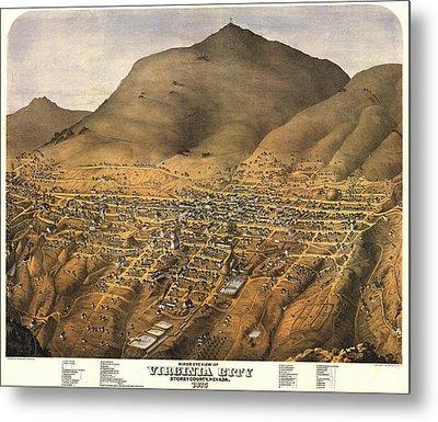 Virginia City Nevada 1875 Metal Print by Donna Leach