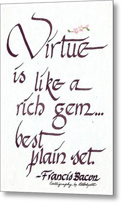 Virtue Metal Print by Ruth Bodycott