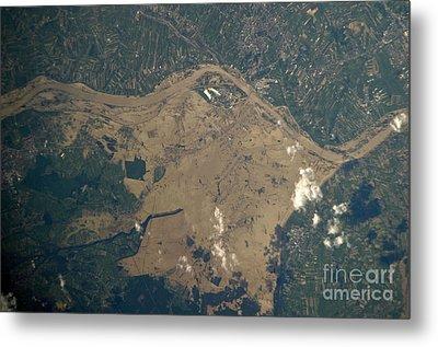 Vistula River Flooding, Southeastern Metal Print by NASA/Science Source