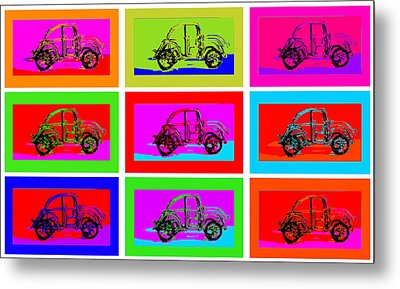 Vw Beatle 1b Metal Print by Mauro Celotti