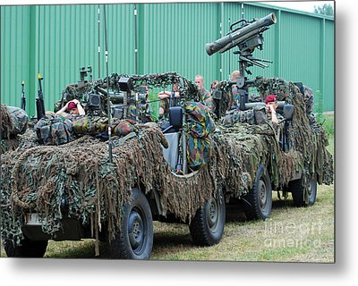 Vw Iltis Jeeps Of A Recce Scout Unit Metal Print by Luc De Jaeger