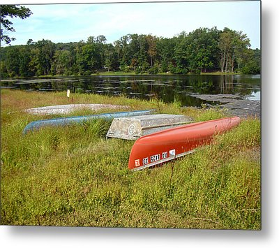 Waiting For One Last Summer Voyage Metal Print by Mother Nature