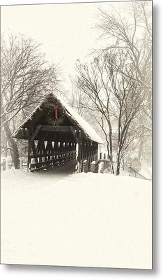 Waiting For The Sleigh Metal Print by Andrew Soundarajan