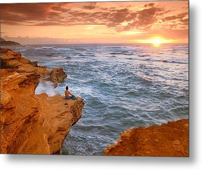 Waiting For The Sun Metal Print by Alan Hart