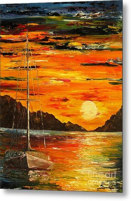 Waiting For The Sunrise Metal Print by AmaS Art