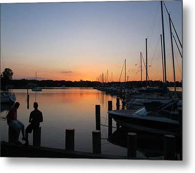 Waiting For The Sunrise Metal Print by Valia Bradshaw