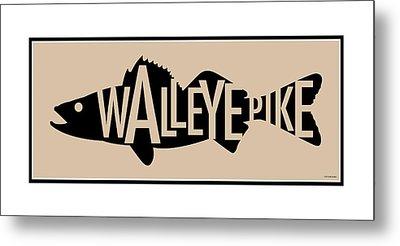 Walleye Pike Metal Print by Geoff Strehlow