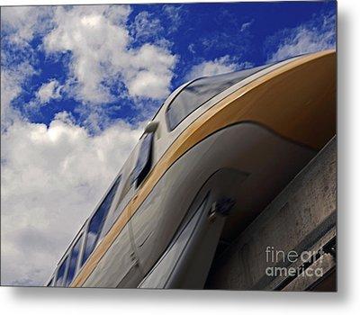 Walt Disney World - Monorail Yellow Metal Print by AK Photography